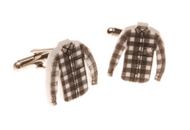 Flannel Shirt Cuff Links From Tatty Devine