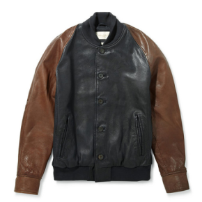 The Levi's Made & Crafted Two Tone Leather Varsity Jacket