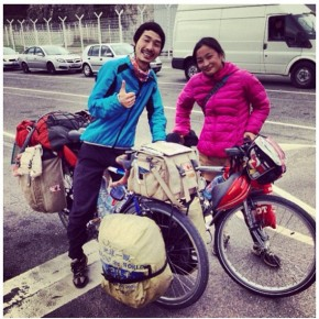 """Ride bicycle for great life"" Japanese couple cycle around the world"