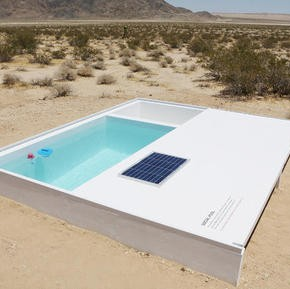 Social Pool: Alfredo Barsuglia's secret swimming pool in Mojave desert